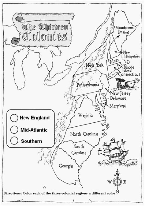 interactive map of colonial america 13 colonies activity worksheets student interactive
