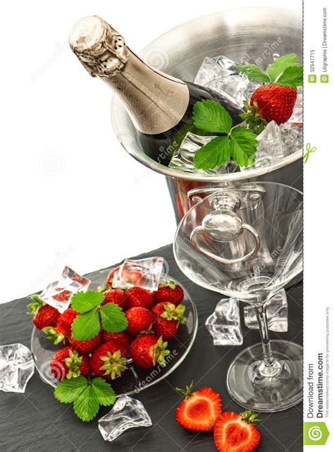 Festive Arrangement With Bottle Of Champagne And