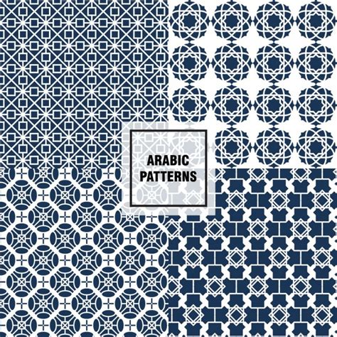 arabic pattern ai arabic tile patterns vector free download