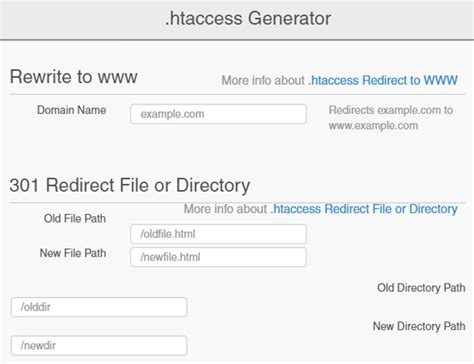 format htaccess file the easier way to do 301 htaccess redirection in