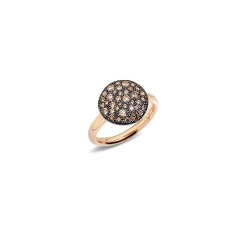 sabbia pomellato pomellato sabbia gold brown ring