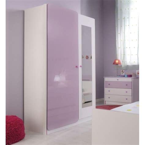 LADYS Armoire 2 portes et miroir   Achat / Vente armoire