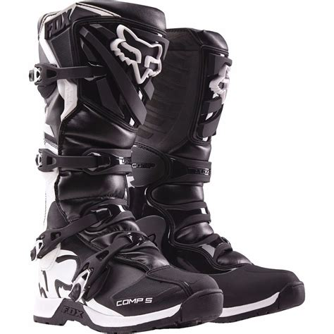 motocross boots size 8 fox racing youth black comp 5 dirt bike boots