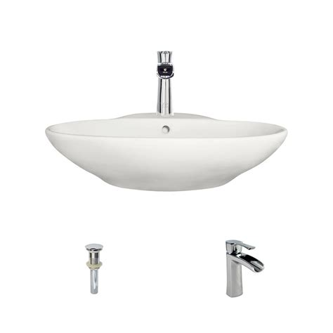 bisque kitchen faucet mr direct porcelain vessel sink in bisque with 732 faucet and pop up drain in chrome v2602 b 732