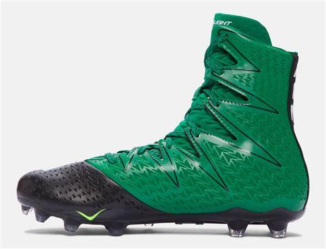 green football shoes ua highlight mc s football cleats