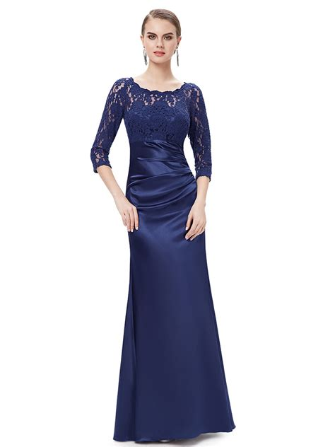 Sleeve High Neck Dress high neck ink blue lace bridesmaid dresses with sleeves