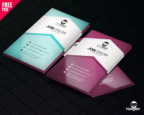 Cards Psd Templates by Creative Business Card Psd Free Psddaddy