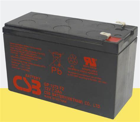 Battery Aki Ups Csb 12v 7 2ah Murah csb gp1272 f2 12v 7 2ah sla sealed lead acid rechargeable ups battery express