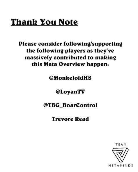 thank you letter to the team members team metaminds meta overview 1 season 26 team metaminds