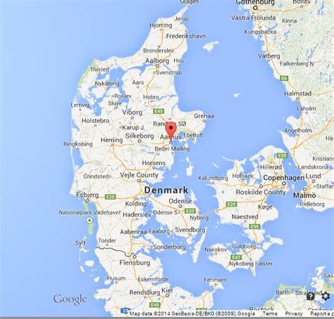 on map aarhus on map of denmark world easy guides