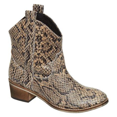 quot dixie quot suede snakeskin print cowboy boots tk maxx