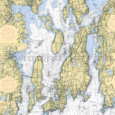 Island Kitchen And Bath rhode island narragansett bay nautical chart decor