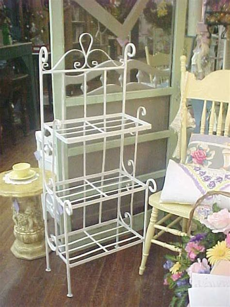 shabby chic vintage wrought iron planter plant stand