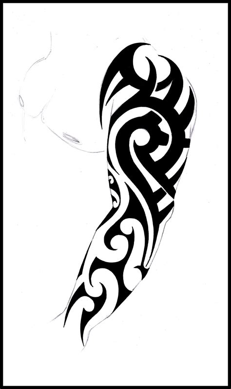 tribal tattoos arm tribal sleeve stencil tribal sleeve design