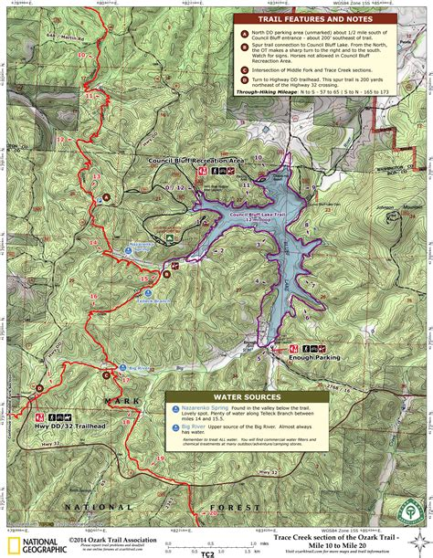 ozark trail map ozark trail planner trip maps