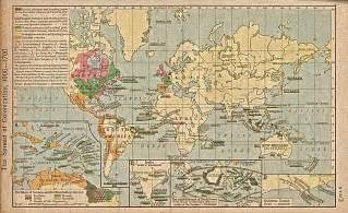 World Map 1600 by The Spread Of Colonization 1600 1700 Full Size