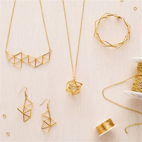diy jewelry diy your own gorgeous geometric jewelry with this kit