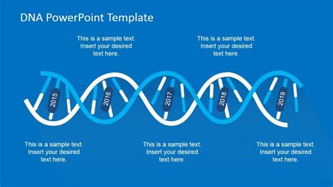 dna templates dna spiral design timeline for powerpoint slidemodel