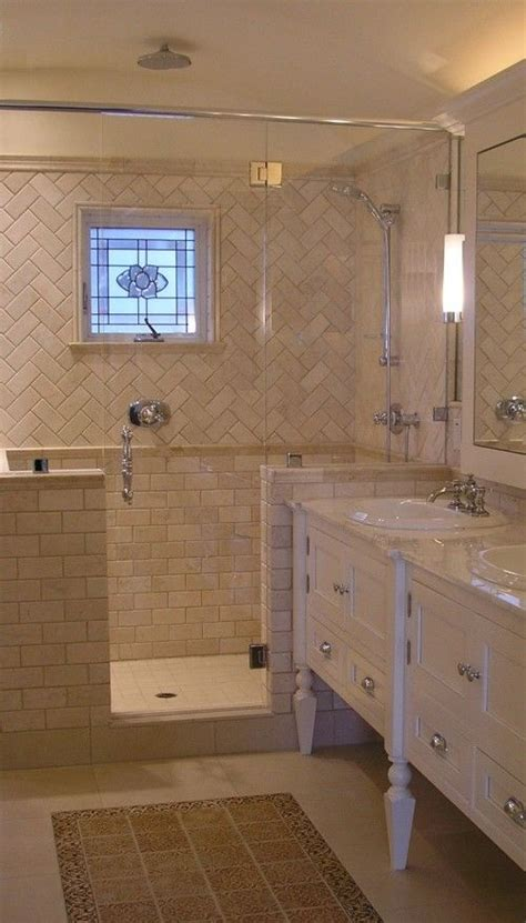master bathroom tile ideas photos for the average size bath where no tub is needed