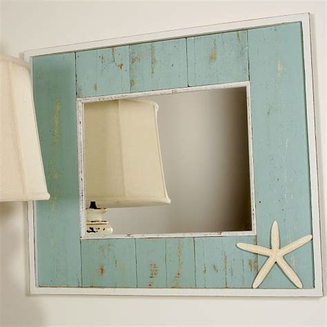 beachy bathroom mirrors recycled wood mirror i d love to make something like this