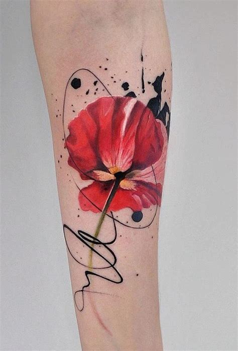poppy and rose tattoo dope indulgence watercolor poppy flower tattoos