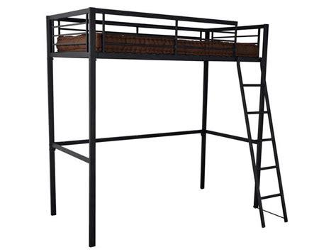 lit mezzanine 90x190 cm 2 coloris noir vente de