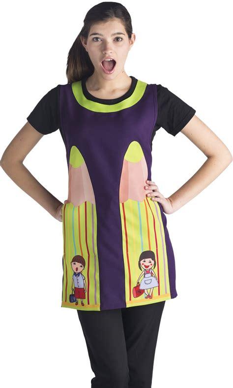 imagenes de mandiles de profesoras es7408 lapiz lila uniformes el didal by joti uniformes