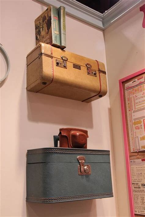 On The Shelf Suitcase by 25 Best Suitcase Shelves Ideas On Vintage Room Decorations Vintage Bedrooms