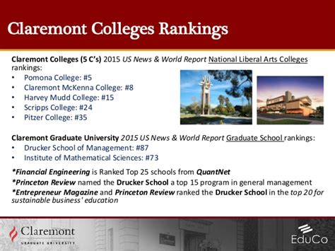 Claremont Mba Tuition by Claremont Graduate Edu Co Presentation V2 3