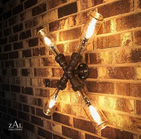 Galvanized Pipe Light Fixtures Wall Light L Bottles Plumbing Pipe Fittings