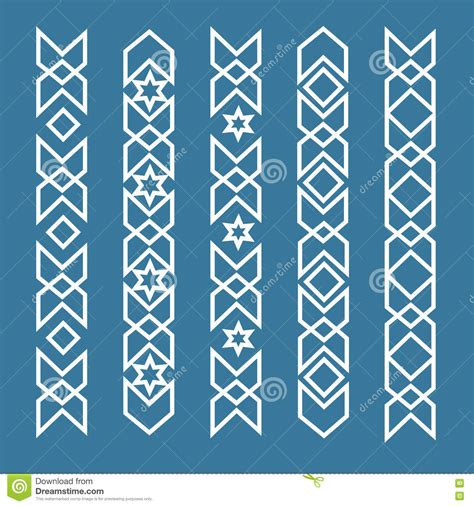 arabic pattern border seamless islamic ornamental borders seamless pattern