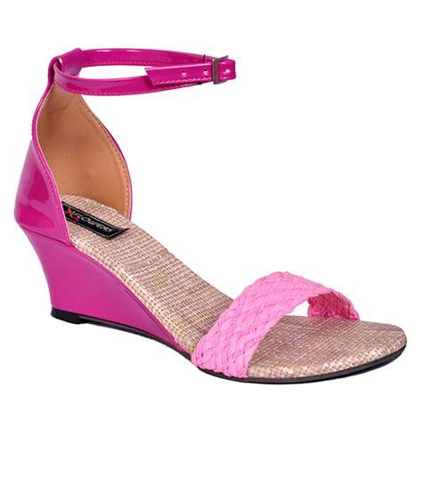 Wedges Ajk21 Wedges Sandal Flower flowers pink wedge heel sandal price in india buy flowers