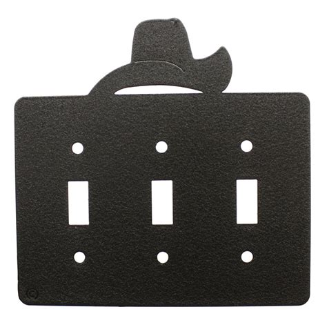 triple light switch cover cowboy hat triple light switch plate cover