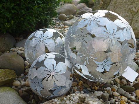 Garten Deko Kugel Metall by 3er Set Dekokugel Gartenkugel Blume Metall Silber