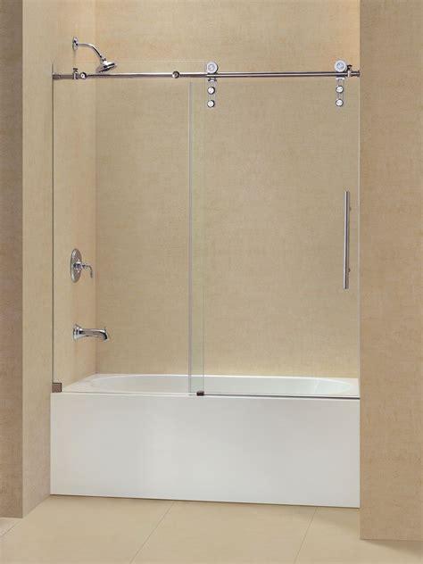 sliding bathtub shower doors dreamline enigma z 56 to 59 quot frameless sliding tub door