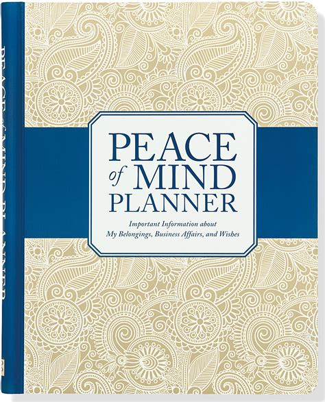 Peace Of Mind Essay by Peace Of Mind Planner Important Information About My Belongings Business Affairs And Wishes