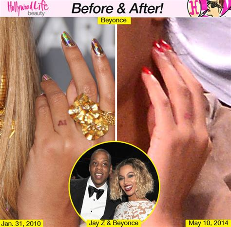 beyonce tattoo meaning and removal is beyonce removing jay z tattoo singer may be lasering