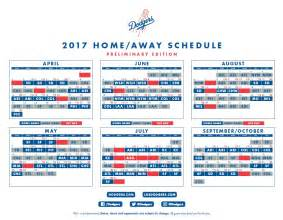 dodgers home schedule 2017 mlb schedule dodgers open next season at home