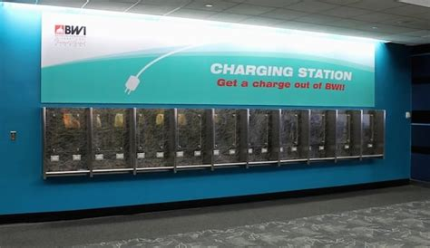 baltimore airport replaces payphones  charging