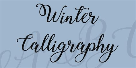 calligraphy font winter calligraphy font 183 1001 fonts