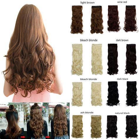 ovation hair reviews hair new 27 quot long curly synthetic hair clip in half head hair