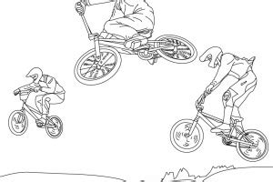 Bmx Coloring Pages Coloring Pages Bmx Colouring Pages
