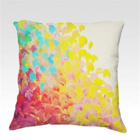 colorful bed pillows creation in color fine art velveteen throw pillow cover