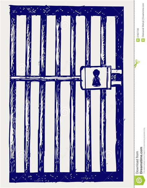 Prison Doodle Style Royalty Free Stock Image Image