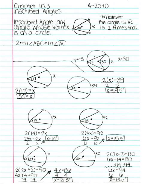 Inscribed Angles Worksheet Answers by Central And Inscribed Angles Worksheet Match Problems