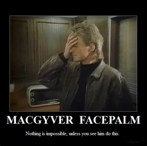 Double Facepalm Meme - macgyver facepalm facepalm know your meme