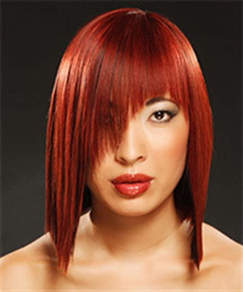 hairstyles that are angled towards the face medium hairstyles that are angled towards the face