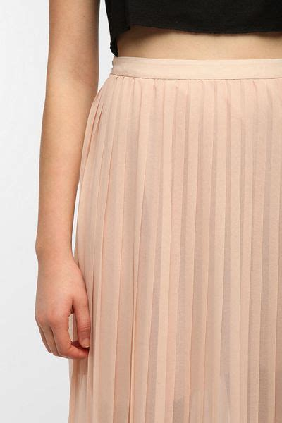 outfitters sparkle fade pleated chiffon maxi skirt