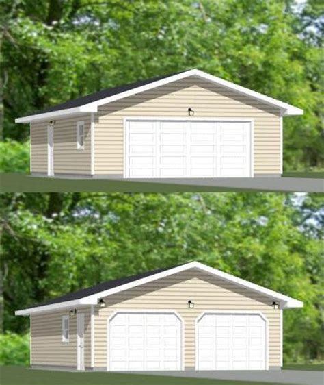 2 car garage sq ft 24x36 2 car garage pdf floor plan 864 sq ft