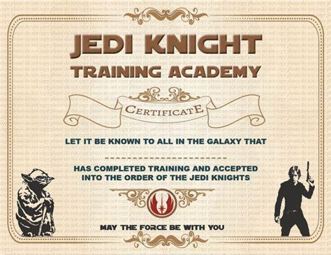 free printable star wars jedi certificates instant dl jedi knight certificate star wars birthday